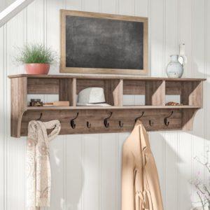 rustic farmhouse 5 hook wall mounted coat rack