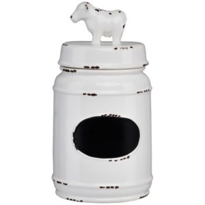 Modern farmhouse kitchen decor - canisters, utensils storage - Cow kitchen canister