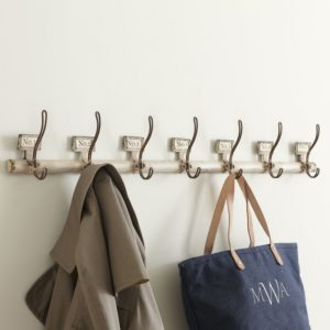 Rustic numbered coat rack from Birch Lane