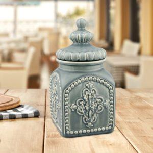 Modern farmhouse kitchen decor - canisters, utensils storage - vintage farmhouse jar
