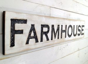 farmhouse sign cypress board handmade