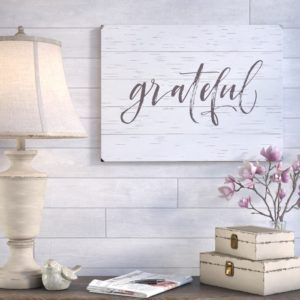 grateful rustic sign by Laurel Foundry