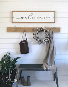 large entryway welcome sign