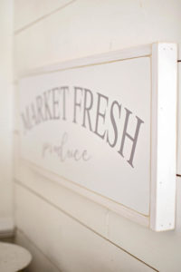 market fresh produce - farmhouse sign