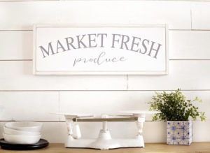 market fresh produce - rustic farmhouse sign