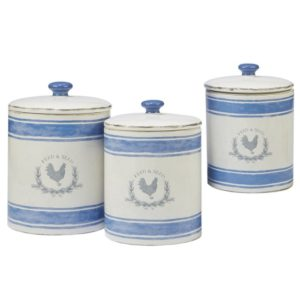 Modern farmhouse kitchen decor - canisters, utensils storage - canister with chicken decor