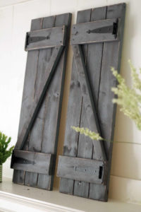 rustic farmhouse shutters in black