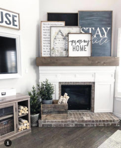 stay awhile modern farmhouse decor sign by Whitney