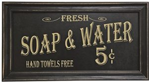 vintage bath sign soap water
