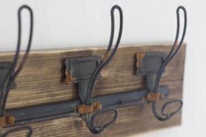 rustic wall mount rustic coat rack with 5 hooks