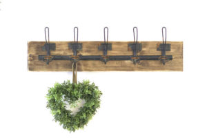 Gorgeous wall mount rustic coat rack with 5 hooks