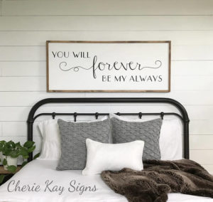 you will forever be my always - large farmhouse style sign