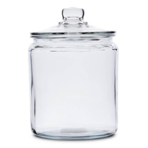 Rustic Country Farmhouse Anchor Hocking Heritage Hill Glass Canister