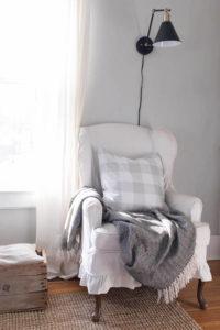Buffalo Check Pillow Cover, Gray - by Lisa