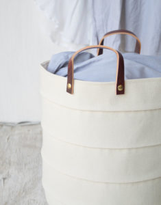 Canvas Laundry hamper storage bin
