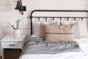 Farmhouse Grain Sack Pillow, brown - by Lisa