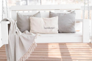Farmhouse Grain Sack Pillow, farmhouse - by Lisa