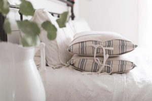 Grain Sack Pillow Cover Set Available in Blue - by Lisa