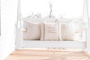 Home Sweet Home Grain Sack Pillow Cover beige - by Lisa