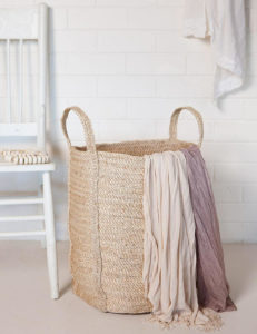 Jute &Elephant Grass Laundry Basket Hand Made