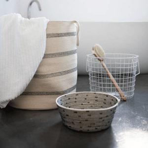 Large Floor Basket Laundry Bin Storage Solutions