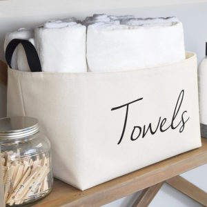 Large Towels Canvas storage bin