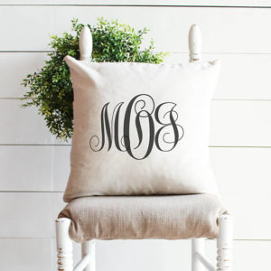 Last name personalized pillow - by Melissa