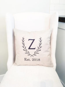 Monogram Pillow Cover - Personalized Wedding Farmhouse Decor by Whitney
