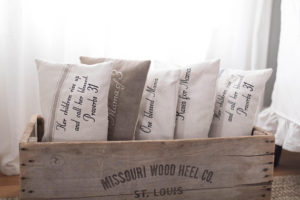 Mother's Day Grain Sack Pillow Covers - by Lisa