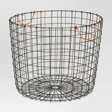 Round Laundry or farmhouse home decor wire basket