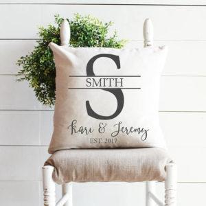 Beautiful Monogram personalized pillow - by Melissa