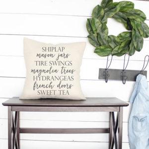 Shiplap farmhouse words | Farmhouse Pillows, farmhouse style gift, fixer upper decor by Melissa