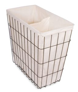 Wire Double Laundry Hamper with Liner