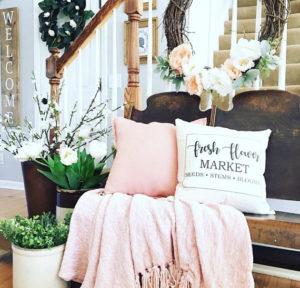 farmhouse flower market pillow - by Amanda