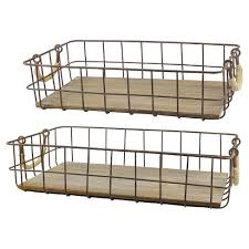 farmhouse metal wire basket - target - stonebriar