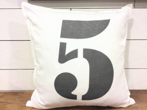 personalized number 5 pillow - by Amanda
