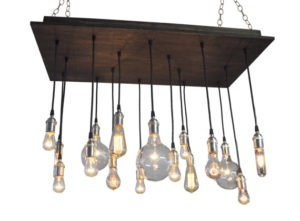 16 Bare Bulb Pendant Rustic Chandelier - Industrial Lighting, Dining Room Chandelier