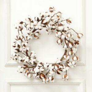 Real Cotton Wreath Farmhouse Decor Christmas Vintage Wreath