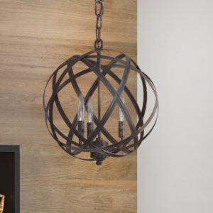 Adcock 3-Light Steel Globe Pendant