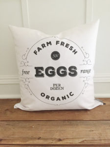 Farm Fresh Egg Pillow Cover by Kendra