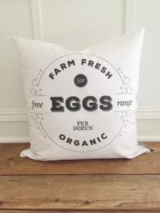 Farm Fresh Egg Pillow Cover by Kendra