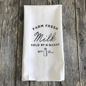 Farm Fresh Milk Tea Towel by Kendra