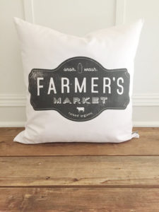 Farmer's Market Pillow Cover by Kendra