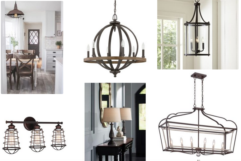 Farmhouse lighting fixtures