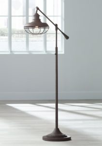 Franklin Park II Industrial Boom Rust Floor Lamp