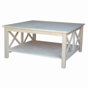 Hampton Square Coffee Table Unfinished