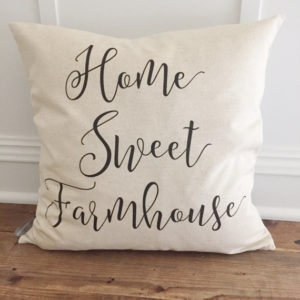 Home Sweet Farmhouse Pillow Cover by Kendra