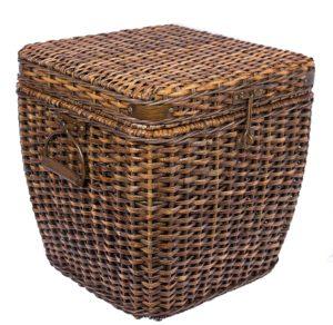 Rattan Peel Storage Cube