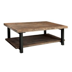 Rustic Natural Coffee Table, Brown