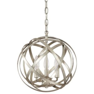 Winter Gold Adcock 3-Light Steel Globe Pendant